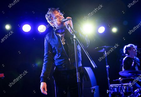 Stock Photo of Actor and singer Michael C. Hall performs with his band Princess Goes To The Butterfly Museum at the Mercury Lounge, in New York