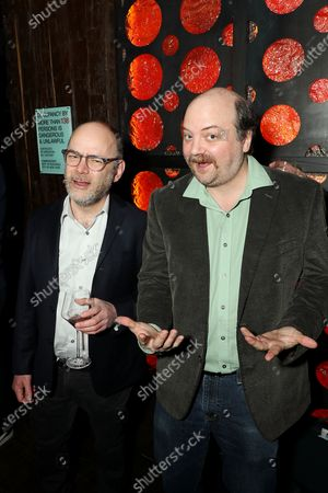 Stock Image of Todd Barry and David Neal Levin