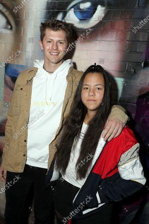 Brandon Pikulinski and his sister