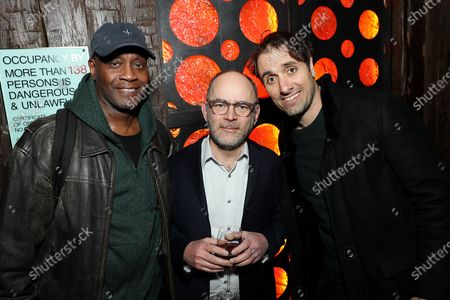 Stock Picture of Todd Barry, Michael Angelo Covino and guest