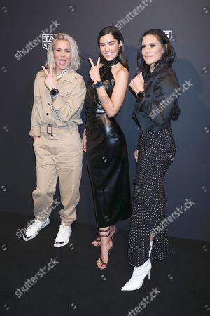 Ashlyn Harris, Paulina Vega and Ali Krieger