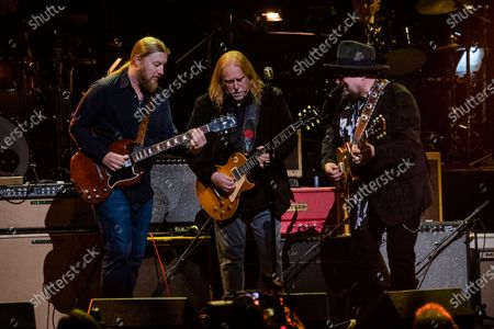 Derek Trucks, from left, Warren Hayes and Jimmy Vivino perform at Love Rocks NYC!, a Benefit Concert for God's Love We Deliver at the Beacon Theatre on in New York