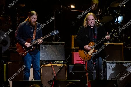 Derek Trucks, left, and Warren Hayes perform at Love Rocks NYC!, a Benefit Concert for God's Love We Deliver at the Beacon Theatre on in New York