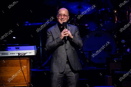 Paul Shaffer speaks at Love Rocks NYC!, a Benefit Concert for God's Love We Deliver at the Beacon Theatre on in New York