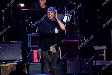 Stock Picture of Lisa Fischer performs at Love Rocks NYC!, a Benefit Concert for God's Love We Deliver at the Beacon Theatre on in New York