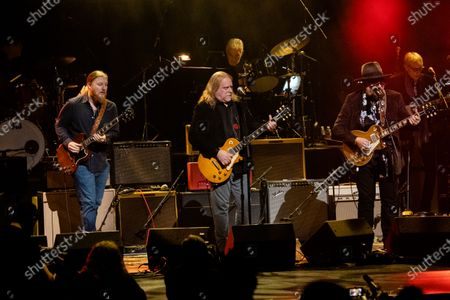 Derek Trucks, from left, Warren Hayes, and Jimmy Vivino perform at Love Rocks NYC!, a Benefit Concert for God's Love We Deliver at the Beacon Theatre on in New York