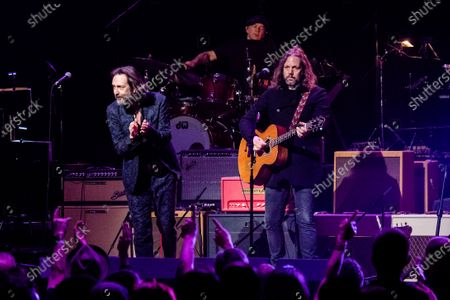 Chris Robinson, left, and Rich Robinson perform at Love Rocks NYC!, a Benefit Concert for God's Love We Deliver at the Beacon Theatre on in New York