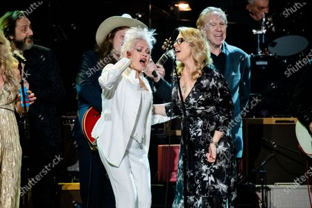 Cyndi Lauper, left, and Susan Tedeschi perform at Love Rocks NYC!, a Benefit Concert for God's Love We Deliver at the Beacon Theatre on in New York