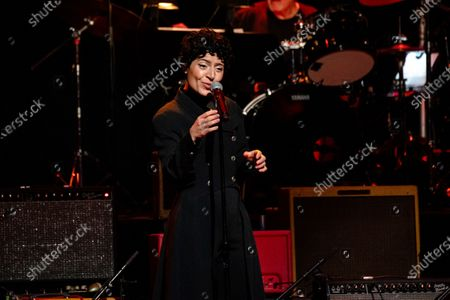 Emily King performs at Love Rocks NYC!, a Benefit Concert for God's Love We Deliver at the Beacon Theatre on in New York