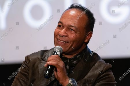 Ray Parker Jr. speaks onstage at ÔWho You Gonna Call?-The Ray Parker Jr. Story-Private Screening at the ArcLight Cinemas on Thursday March 12, 202 in Hollywood, CA