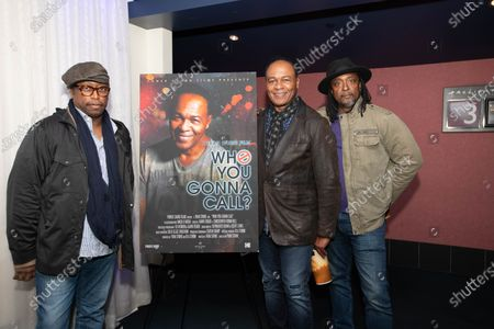 Stock Photo of (L-R) Darryl Jones, Ray Parker Jr. and Bernard Fowler
