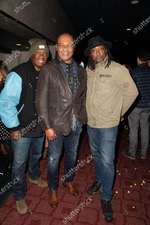 Stock Image of (L-R) Vince Wilburn Jr., Ray Parker Jr. and Bernard Fowler
