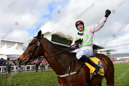 Stock Picture of Cheltenham. Ryanair Chase (Grade 1). MIN and Paul Townend win foir trainer Willie Mullins and owner Rich Ricci from SAINT CALVADOS and A PLUS TARD.