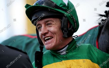 Randox Health County Handicap Hurdle. Barry Geraghty after winning the second race