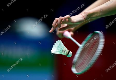Stock Picture of Chen Yu Fei of China in action against Ratchanok Intanon of Thailand during their women's singles match at the Yonex All England Open Badminton Championships at Arena Birmingham in Birmingham, Britain, 13 March 2020.