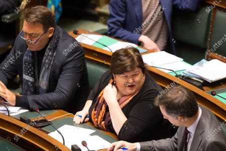 Minister SMEs, Entrepreneurs, Agriculture and Social Integration Denis Ducarme, Minister of Health, Social Affairs, Asylum Policy and Migration Maggie De Block and Minister of Cooperation Development, Digital Agenda, Postal services and Finance Alexander De Croo