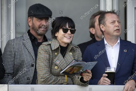Nick Knowles and Lily Allen watch the first race