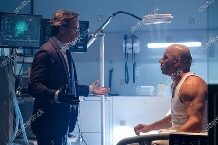 Stock Picture of Guy Pearce as Dr. Emil Harting and Vin Diesel as Ray Garrison/Bloodshot