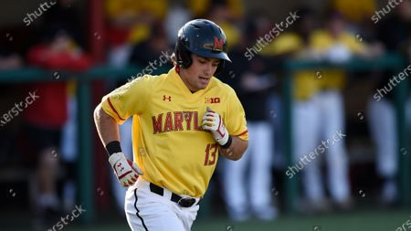 Stock Picture of Maryland's Matt Orlando during an NCAA baseball game, in College Park, Md