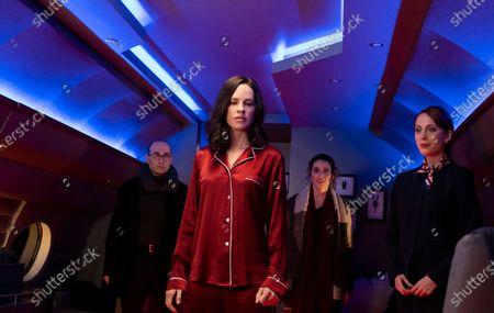 Vince Pisani as Peter, Hilary Swank as Athena, Teri Wyble as Liberty (Teri Wyble) and Hannah Alline as Kelly