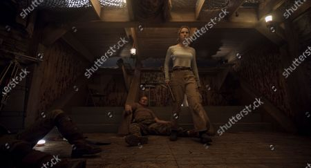 Steve Mokate as Sergeant Dale and Betty Gilpin as Crystal