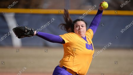 Stock Image of Jaclyn Spencer during an NCAA softball game, in Greeley, CO