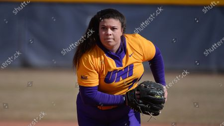 Jaclyn Spencer during an NCAA softball game, in Greeley, CO