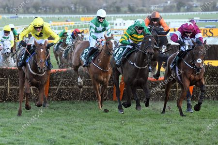 , Cheltenham, Saint Roi (second from right) with Barry Geraghty up wins the Randox Health County Hurdle at Cheltenham racecourse, GB.
