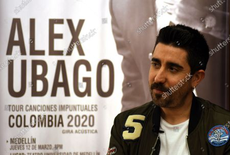 Alex Ubago speaks during an interview in Bogota, Colombia, 11 March 2020 (issued 13 March 2020).