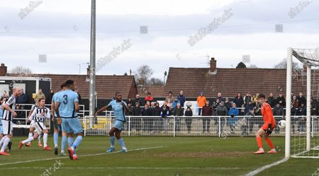 Mark Anderson of Spennymoor Town scores their third goal