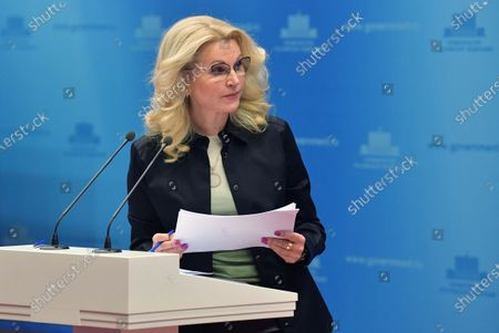 Russian Deputy Prime Minister Tatiana Golikova takes part in a session of a coordination council to confront the Coronavirus Covid-19 in Moscow, Russia 14 March 2020. According to the Russian Quarantine Service of Rospotrebnadzor (Russian Federal Service for Surveillance on Consumer Rights Protection and Human Wellbeing), fourty seven cases of the coronavirus Covid-19 infection have been confirmed so far in Russia.