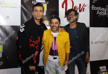 Stock Image of Karan Johar, Ryan Stephen and Niranjan Iyengar