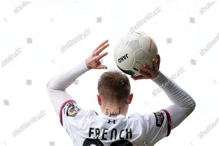 Tattoo on the neck of Tyler French of AFC Fylde