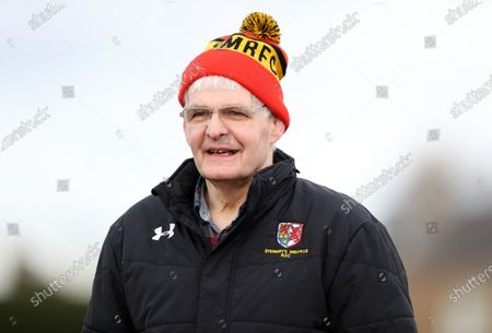 Finlay Calder - ex Scotland and British Lions captain watches his club side Stweart's Melville from the sidelines.