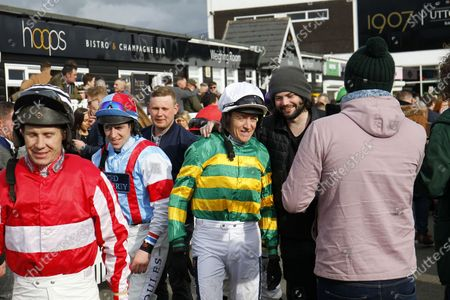 Leading Cheltenham Festival rider Barry Geraghty at Uttoxeter with Richard Johnson.