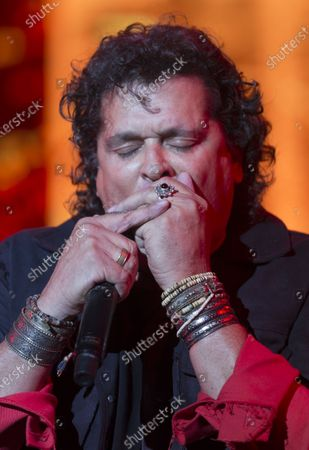 Carlos Vives performs during the Vive Latino music festival in Mexico City, . The two-day rock festival is one of the most important and longest running of Mexico
