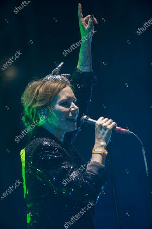 Nina Persson vocalist of Cardigans rock band performs during the Vive Latino music festival in Mexico City, . The two-day rock festival is one of the most important and longest running of Mexico