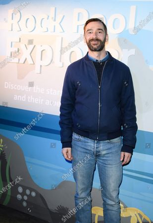 Stock Image of Charlie Condou at the launch of new Rock Pool Explorer experience at SEA LIFE London Aquarium.