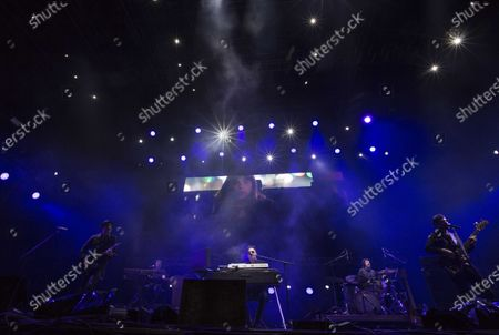 Stock Picture of Argentinian musician Andres Calamaro performs during the Vive Latino music festival in Mexico City, . The two-day rock festival is one of the most important and longest running of Mexico