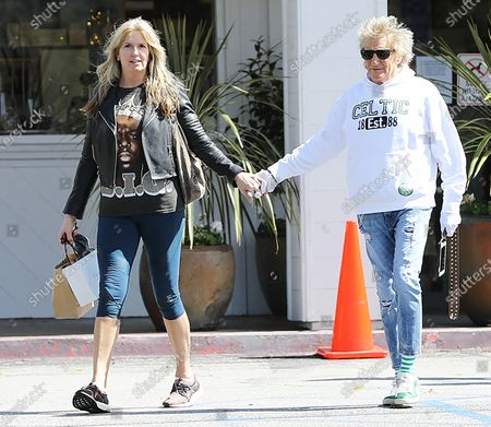 Penny Lancaster and Rod Stewart