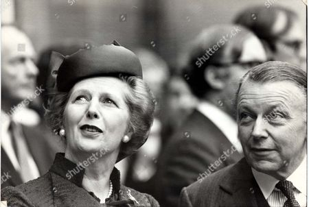 Margaret Thatcher Prime Minister Margaret Thatcher And Francis Pym At The Foreign Office To Meet The Arab League Deligation.