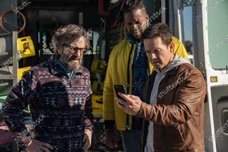 Marc Maron as Wayne Cosgrove, Winston Duke as Hawk and Mark Wahlberg as Spenser