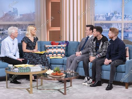 Phillip Schofield and Holly Willoughby with Anton Du Beke, Gorka Marquez and Neil Jones