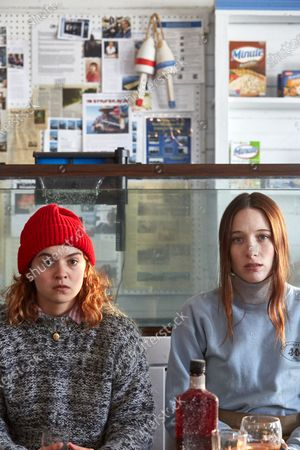 Stock Picture of Morgan Saylor as Mary Beth Connolly and Sophie Lowe as Priscilla Connolly
