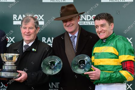 Stock Picture of Cheltenham. Randox Health County Handicap Hurdle. SAINT ROI and Barry Geraghty won for trainer Willie Mullins and owner JP McManus.