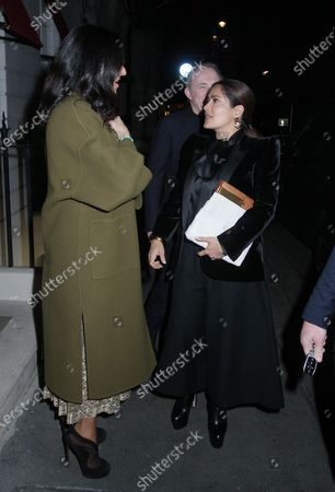 Editorial photo of Salma Hayek out and about, London, UK - 12 Mar 2020
