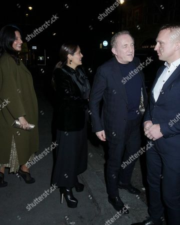 Editorial image of Salma Hayek out and about, London, UK - 12 Mar 2020