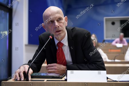 Daniel Koch, head of the Communicable Diseases Division at the Federal Office of Public Health, brief the media about the latest measures to fight the Covid-19 Coronavirus pandemic, in Bern, Switzerland, 16 March 2020.