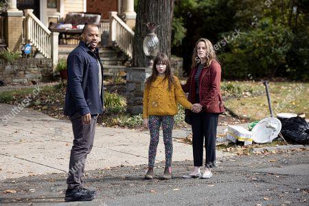 Donald Faison as Alex Evans, Alexa Swinton as Piper and Zabryna Guevara as Abby Fraiser