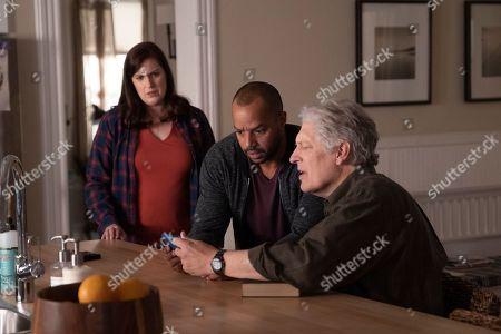 Allison Tolman as Jo Evans, Donald Faison as Alex Evans and Clancy Brown as Ed Sawyer